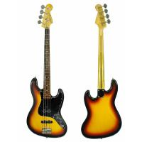 Изображение SQUIER JAZZ BASS by FENDER Бас-гитара Б\У, Silver Series, s\n:Q023764, Japan, Sunburst + Чехол