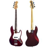 Изображение FENDER JAZZ BASS Бас-гитара Б\У, Mexico, Бордовый (WineRed)+ Straplocks, S\N:MZ0175381 + чехол