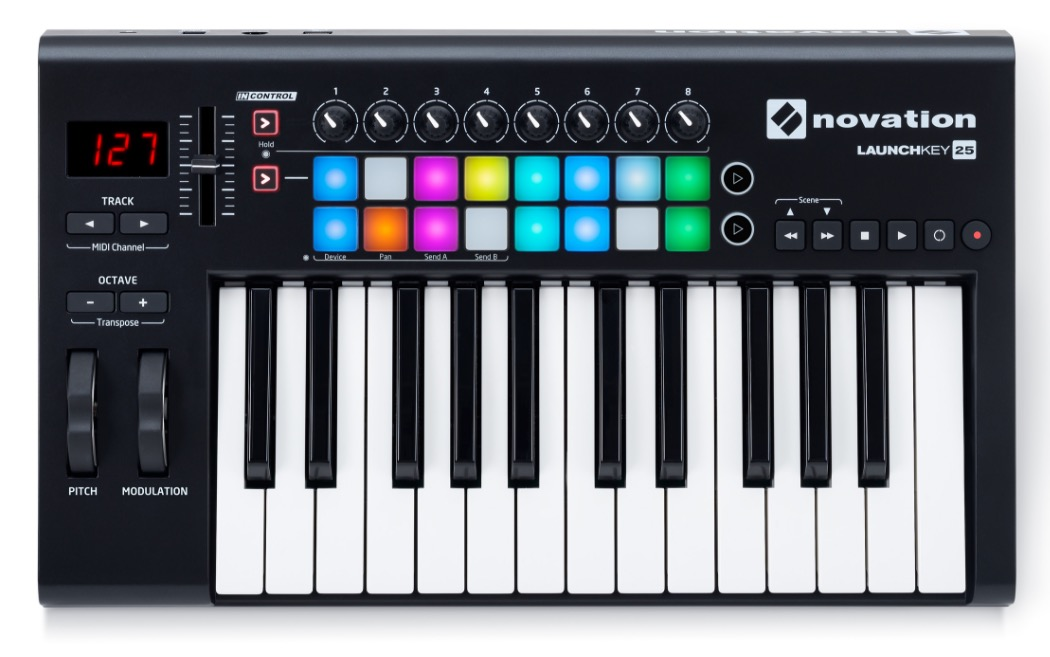 Изображение MIDI-клавиатура NOVATION LAUNCHKEY 25