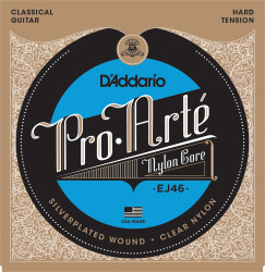Изображение D'ADDARIO EJ46C стр. для кл. гит., Composite, Silver, Hard Tension